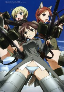 Rating: Questionable Score: 11 Tags: animal_ears ass erica_hartmann gertrud_barkhorn gun minna_dietlinde_wilcke pantsu strike_witches tail takamura_kazuhiro uniform User: Nepcoheart