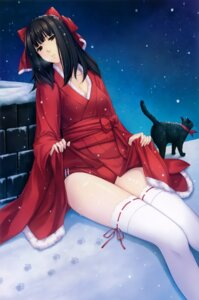 Rating: Safe Score: 50 Tags: buruma caucasus christmas cleavage kimono nanatsuki_venio neko skirt_lift sugina_miki thighhighs User: Hatsukoi