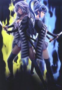 Rating: Safe Score: 25 Tags: armor chuushingura_46+1 cleavage fishnets fuwa_kazuemon horibe_yasubee inre_(company) kimono nui sword thighhighs User: donicila