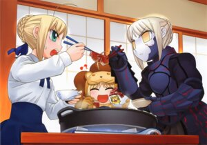 Rating: Safe Score: 12 Tags: fate/stay_night hirai_yukio saber saber_alter saber_lion type-moon User: Radioactive