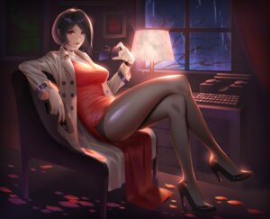 Rating: Safe Score: 56 Tags: ada_wong dress gun heels louis_hung megane pantyhose resident_evil User: Mr_GT
