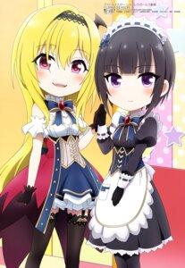 Rating: Safe Score: 18 Tags: chibi dress kurosaki_chitose maid pantyhose shirayuki_chiyo stockings takatsu_tomoko the_idolm@ster the_idolm@ster_cinderella_girls thighhighs User: drop
