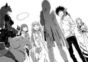 Rating: Safe Score: 8 Tags: dress haimura_kiyotaka index kamijou_touma misaka_mikoto monochrome shinyaku_to_aru_majutsu_no_index tagme to_aru_majutsu_no_index User: kiyoe
