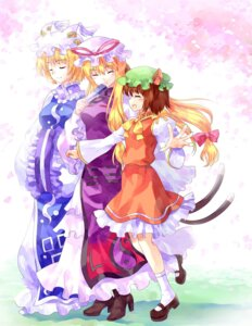 Rating: Safe Score: 12 Tags: animal_ears chen pico_(artist) tail touhou yakumo_ran yakumo_yukari User: Mr_GT