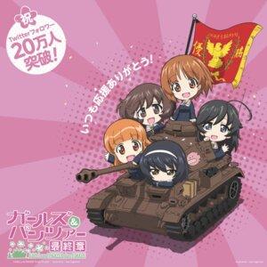 Rating: Safe Score: 12 Tags: akiyama_yukari chibi girls_und_panzer isuzu_hana nishizumi_miho reizei_mako sugimoto_isao takebe_saori uniform User: saemonnokami