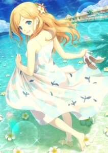 Rating: Safe Score: 28 Tags: dress shinonome_haru skirt_lift summer_dress wet User: RyuZU