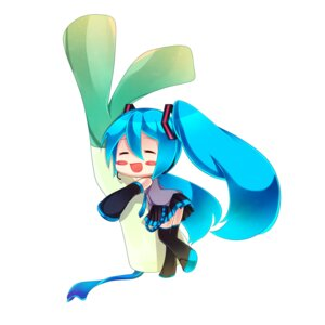 Rating: Safe Score: 14 Tags: chibi hatsune_miku heki_kiri thighhighs vocaloid User: Radioactive