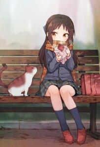 Rating: Safe Score: 71 Tags: neko sakura_akami seifuku tachibana_arisu the_idolm@ster the_idolm@ster_cinderella_girls User: nphuongsun93