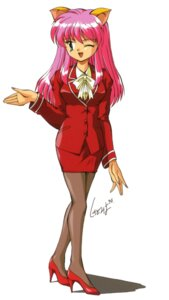 Rating: Safe Score: 3 Tags: animal_ears business_suit heels pantyhose shikato_miyo User: Radioactive