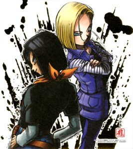 Rating: Questionable Score: 10 Tags: android_17 android_18 dragon_ball male User: drop