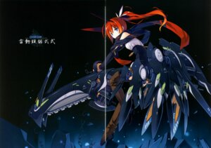 Rating: Safe Score: 4 Tags: asahiage chainsaw fixme gap mecha_musume poco thighhighs User: fireattack