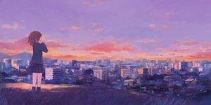 Rating: Safe Score: 35 Tags: asami_natsu landscape sangatsu_no_phantasia seifuku User: Noodoll