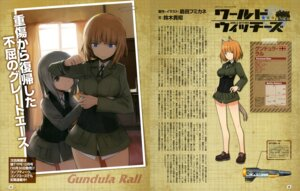 Rating: Questionable Score: 14 Tags: animal_ears edytha_rossmann gundula_rall pantsu shimada_humikane strike_witches tail uniform User: drop