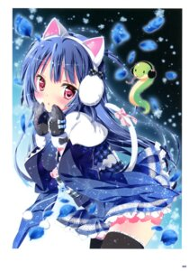 Rating: Safe Score: 46 Tags: animal_ears kamiya_maneki momoiro_taisen_pairon nekomimi tail thighhighs User: crim