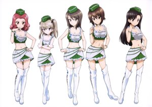Rating: Safe Score: 33 Tags: cleavage girls_und_panzer heels mika_(girls_und_panzer) nishi_kinuyo nishizumi_maho rosehip shimada_arisu thighhighs User: drop