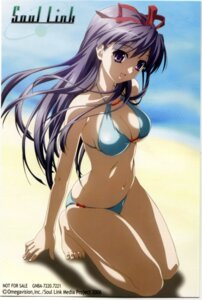 Rating: Questionable Score: 16 Tags: bikini cleavage nagase_sayaka soul_link swimsuits User: Anonymous