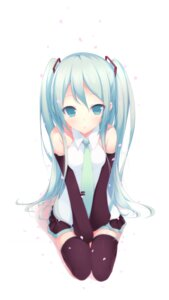Rating: Safe Score: 84 Tags: hatsune_miku mogu thighhighs vocaloid User: Frizen