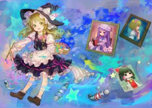 Rating: Safe Score: 12 Tags: alice_margatroid ama-tou hakurei_reimu kirisame_marisa patchouli_knowledge touhou User: Radioactive
