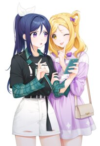 Rating: Safe Score: 18 Tags: dress love_live!_sunshine!! matsuura_kanan minori_(faddy) ohara_mari yuri User: Dreista