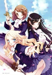 Rating: Questionable Score: 15 Tags: animal_ears ass ingrid kobanakawa_yuri kuzumi_chizuru littlewitch loli oyari_ashito pantsu seifuku seiken_no_faeries sword User: admin2