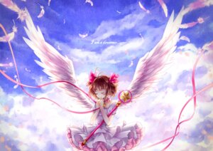 Rating: Safe Score: 24 Tags: card_captor_sakura dress kinomoto_sakura momoko weapon wings User: Mr_GT