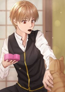 Rating: Safe Score: 7 Tags: gintama kuroneko_w1nter male neko okita_sougo uniform valentine User: charunetra
