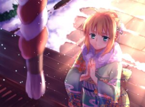 Rating: Safe Score: 26 Tags: fate/stay_night gogatsu_fukuin kimono saber User: mash