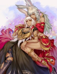 Rating: Questionable Score: 19 Tags: animal_ears armor bunny_ears cleavage final_fantasy final_fantasy_iv final_fantasy_xiv heels pengnangehao viera yuri User: Dreista