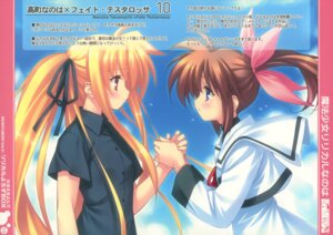 Rating: Safe Score: 12 Tags: fate_testarossa hitoride-dekirumon mahou_shoujo_lyrical_nanoha mahou_shoujo_lyrical_nanoha_the_movie_1st munyuu paper_texture seifuku takamachi_nanoha User: midzki