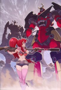 Rating: Safe Score: 31 Tags: bikini_top gun mecha tengen_toppa_gurren_lagann thighhighs yoko yoshinari_you User: Radioactive