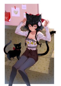 Rating: Safe Score: 39 Tags: animal_ears aruterra cleavage neko nekomimi pantyhose tail User: nphuongsun93