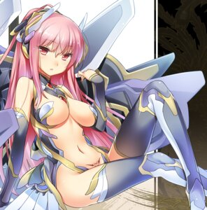 Rating: Questionable Score: 49 Tags: 47agdragon bikini_armor bodysuit cleavage heels mecha_musume tattoo thighhighs underboob User: Hentar