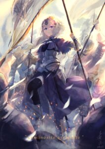 Rating: Safe Score: 23 Tags: armor ase_tou_mi_kaameru fate/grand_order jeanne_d'arc jeanne_d'arc_(fate) sword thighhighs User: Mr_GT