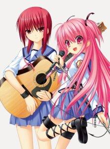 Rating: Safe Score: 9 Tags: angel_beats! duplicate garter guitar iwasawa key na-ga seifuku tail yui_(angel_beats!) User: marechal