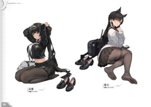 Rating: Questionable Score: 29 Tags: animal_ears ass atago_(azur_lane) azur_lane feet kishiyo pantsu pantyhose seifuku sweater takao_(azur_lane) User: Twinsenzw