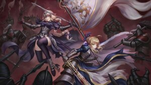 Rating: Safe Score: 33 Tags: aaeru armor blood dress fate/grand_order heels jeanne_d'arc jeanne_d'arc_(alter)_(fate) saber sword thighhighs weapon User: mash