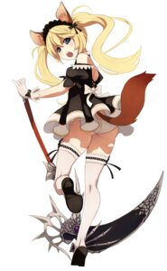 Rating: Questionable Score: 52 Tags: animal_ears ass caee_penguin elin pantsu tail tera_online thighhighs weapon User: Radioactive