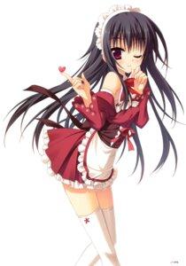 Rating: Safe Score: 76 Tags: hontani_kanae maid moritsuka_ichino ore_to_ichino_no_game_doukoukai_katsudou_nisshi thighhighs User: crim