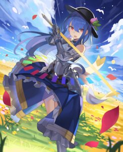 Rating: Questionable Score: 15 Tags: armor hinanawi_tenshi rin_falcon skirt_lift sword touhou User: Dreista