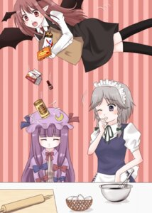 Rating: Safe Score: 6 Tags: izayoi_sakuya koakuma maid patchouli_knowledge purin touhou User: konstargirl