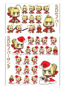Rating: Safe Score: 9 Tags: chibi christmas fate/extra fate/stay_night saber saber_extra type-moon User: fireattack