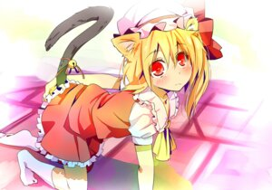 Rating: Safe Score: 25 Tags: animal_ears ema20 flandre_scarlet nekomimi tail touhou User: fireattack