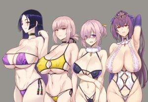 Rating: Questionable Score: 69 Tags: bikini erect_nipples fate/grand_order florence_nightingale_(fate/grand_order) mash_kyrielight megane miyamoto_musashi_(fate/grand_order) scathach_skadi swimsuits zhen_lu User: Mr_GT