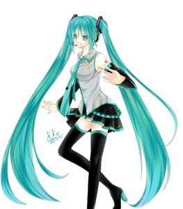 Rating: Safe Score: 2 Tags: hatsune_miku hisuri_rii thighhighs vocaloid User: kokorii