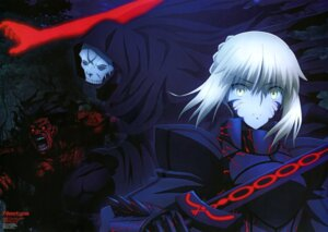 Rating: Questionable Score: 32 Tags: armor berserker fate/stay_night_heaven's_feel saber saber_alter sword true_assassin type-moon yamazaki_miki User: drop