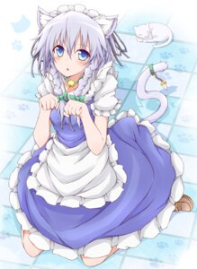 Rating: Safe Score: 22 Tags: animal_ears dress izayoi_sakuya karamone-ze neko nekomimi tail touhou User: dyj