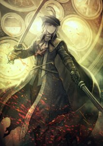 Rating: Safe Score: 12 Tags: anbe_yoshirou bloodborne lady_maria_of_the_astral_clocktower sword User: Mr_GT