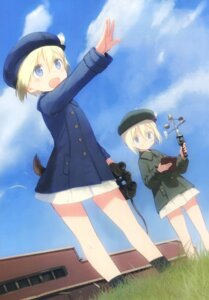 Rating: Safe Score: 18 Tags: erica_hartmann megane shimada_humikane strike_witches tail uniform ursula_hartmann User: Radioactive
