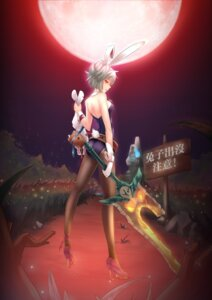 Rating: Safe Score: 40 Tags: animal_ears bunny_ears bunny_girl league_of_legends pantyhose riven_(league_of_legends) sein_(tgf19911119) teemo User: fairyren