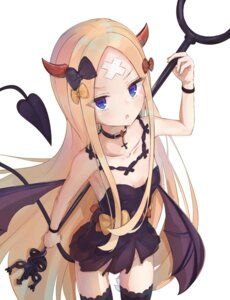 Rating: Questionable Score: 35 Tags: abigail_williams_(fate/grand_order) bandaid cleavage devil fate/grand_order horns loli mikami_hotaka no_bra nopan tail thighhighs weapon wings User: yanis